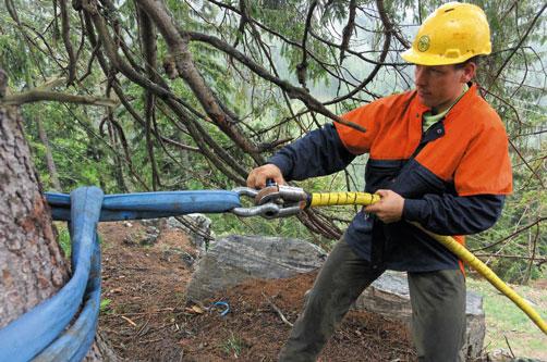 hoe de kabel vast te maken
